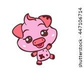 vector cute pig