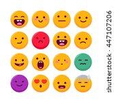 set of emoticons  vector emoji...   Shutterstock .eps vector #447107206