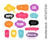 set of colorful vector speech... | Shutterstock .eps vector #447107233
