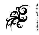 tattoo tribal vector design...   Shutterstock .eps vector #447117244