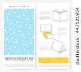 business brochure flyer design... | Shutterstock .eps vector #447121954