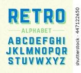 retro style alphabet  | Shutterstock .eps vector #447122650