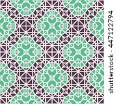 seamless texture with arabic... | Shutterstock .eps vector #447122794