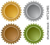 star seals isolated on a white... | Shutterstock .eps vector #44712481