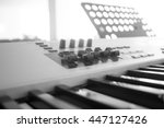 the piano is the key to the... | Shutterstock . vector #447127426