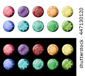 set of different color round...