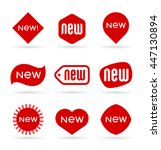 Set Of Vector New Labels And...