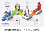 isometric business people... | Shutterstock .eps vector #447137899