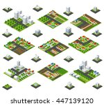 a large kit of 3d metropolis of ... | Shutterstock .eps vector #447139120