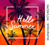 hello summer time wallpaper ... | Shutterstock .eps vector #447140290