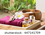spa treatment and aromatherapy  | Shutterstock . vector #447141709