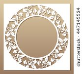 openwork white frame with... | Shutterstock .eps vector #447145534