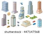 3d  kit metropolis of... | Shutterstock .eps vector #447147568