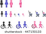 pictogram icon of human with... | Shutterstock .eps vector #447150133
