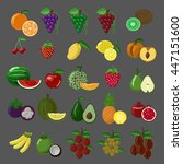 flat style fruits vector icon... | Shutterstock .eps vector #447151600