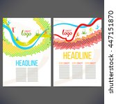 vector template design strips... | Shutterstock .eps vector #447151870
