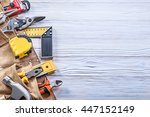 construction tooling in leather ... | Shutterstock . vector #447152149