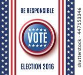 american election 2016...   Shutterstock .eps vector #447153346