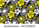 abstract floral seamless... | Shutterstock .eps vector #447154813