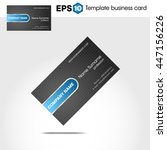 abstract blue business card...   Shutterstock .eps vector #447156226