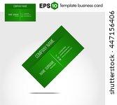 green business card template | Shutterstock .eps vector #447156406