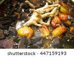 nam ngeaw  spicy pork sauce...   Shutterstock . vector #447159193