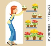 florist business owner holding... | Shutterstock .eps vector #447161038