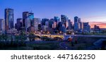 calgary skyline at night with... | Shutterstock . vector #447162250
