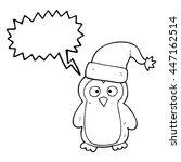 freehand drawn speech bubble... | Shutterstock .eps vector #447162514