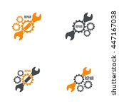 wrench and gear icon. mechanic...   Shutterstock .eps vector #447167038