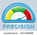 high precision showing meter... | Shutterstock . vector #447168688