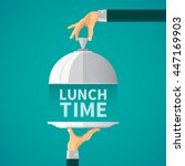 lunch time vector concept with... | Shutterstock .eps vector #447169903