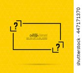 question mark blank template.... | Shutterstock .eps vector #447171370