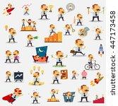 mega set of business man in... | Shutterstock .eps vector #447173458