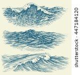 sea and ocean waves | Shutterstock .eps vector #447184120