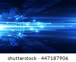 vector digital technology... | Shutterstock .eps vector #447187906