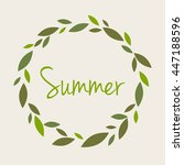 illustration word summer in a... | Shutterstock .eps vector #447188596