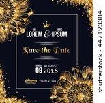 wedding invitation card design. ... | Shutterstock .eps vector #447193384