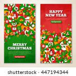 christmas greeting cards with... | Shutterstock .eps vector #447194344