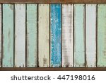 aqua tone weathered and vintage ... | Shutterstock . vector #447198016
