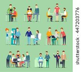 business characters. co working ... | Shutterstock .eps vector #447203776