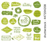 collection of healthy organic... | Shutterstock .eps vector #447204208