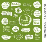 collection of healthy organic... | Shutterstock .eps vector #447204673