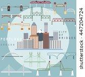 portland  oregon usa flat... | Shutterstock .eps vector #447204724