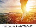 female sport fitness runner... | Shutterstock . vector #447205630