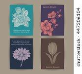 vintage floral cards set. | Shutterstock .eps vector #447206104