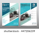 blue business annual report... | Shutterstock .eps vector #447206239