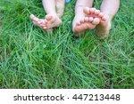 Group Of Happy Children Feet...