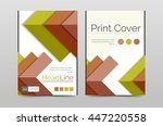 geometric brochure front page ... | Shutterstock .eps vector #447220558