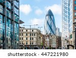 city view of london around... | Shutterstock . vector #447221980